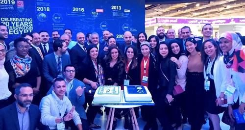 أسامة كمال يشارك سيسكو إحتفالها  بمرور 20 عاما للشركة فى مصر بجناحها بمعرض cairo ict